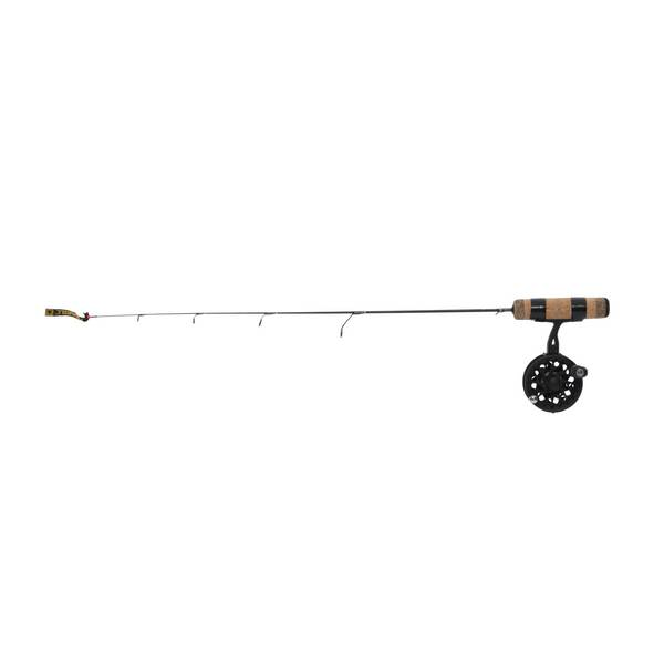 Frabill straight line 24 ultra light combo ice fishing for Ice fishing rod and reel combo