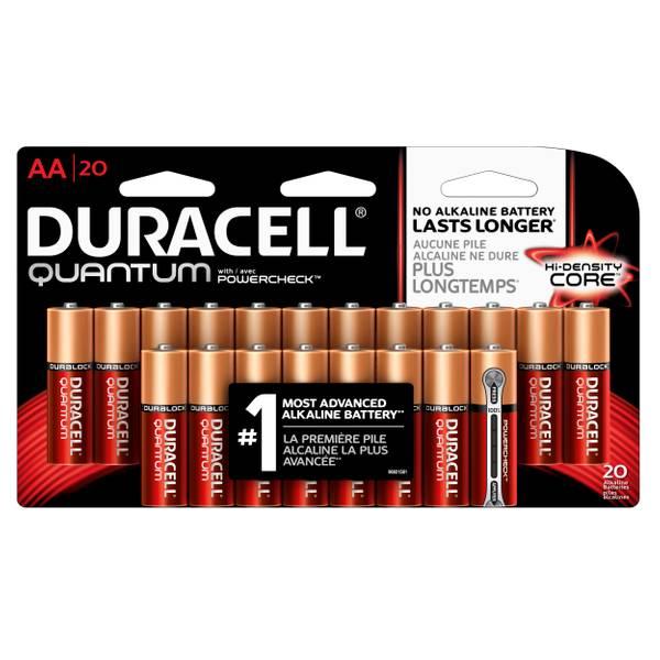 Quantum Alkaline AA Batteries