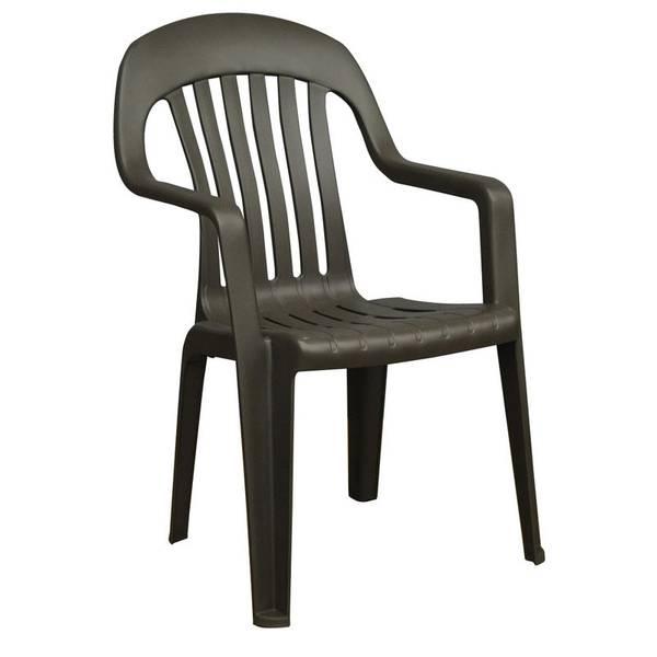 ... Fleet Farm Patio Furniture By Adams Manufacturing High Back Resin Chair  ...