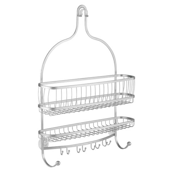Jumbo Silver Shower Caddy