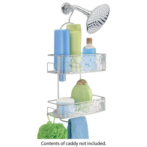 Clear and Silver Bubbli Shower Caddy