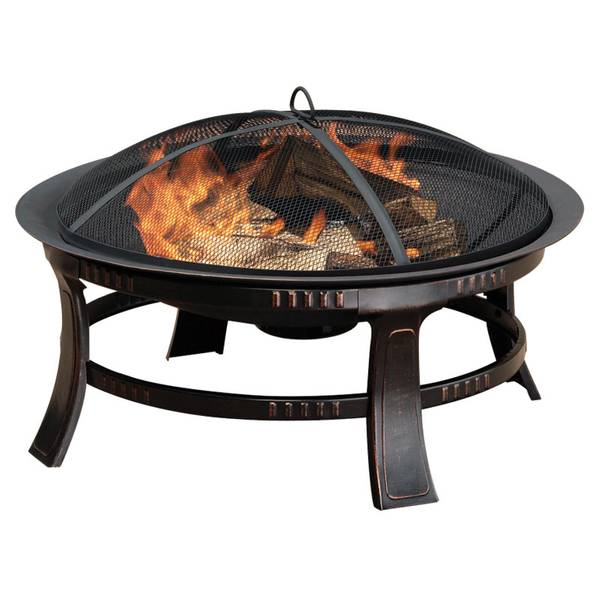 "30"" Rubbed Bronze Aspen Round Firepit"