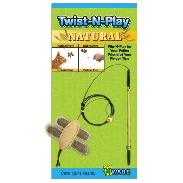 Twist-N-Play Wood Wand Cat Toy