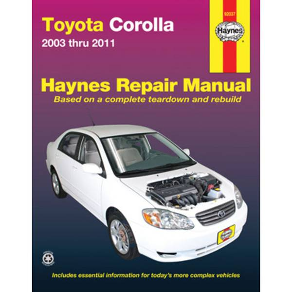 Toyota Corolla, '03-'11 Manual