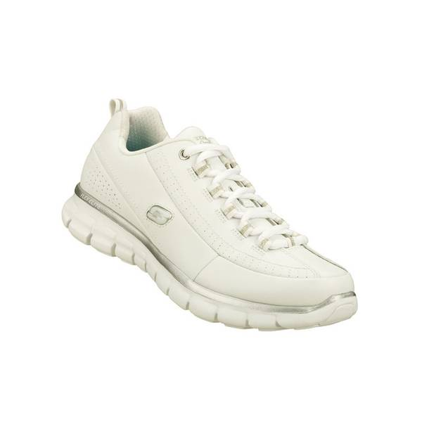 SKECHERS Synergy - Elite Status Sneakers Women's Size 8.5 White (repair)