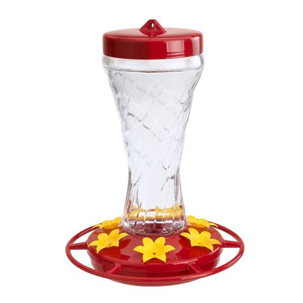 Paradise Glass Hummingbird Feeder
