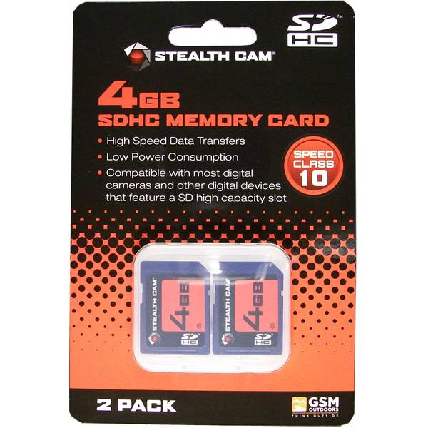 4GB SD Cards - 2 Pack