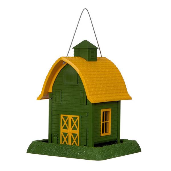 Green Barn Bird Feeder