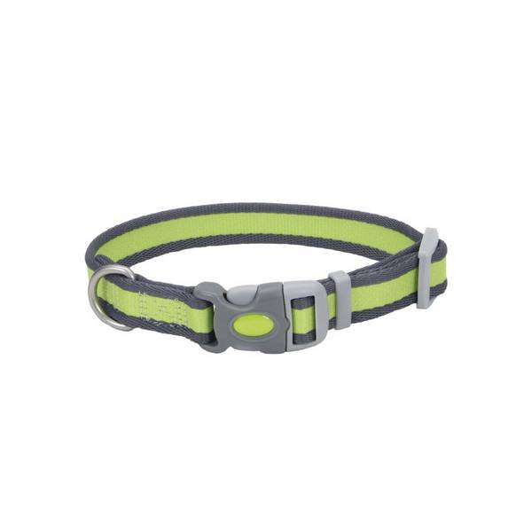 Adjustable Pet Pro Bright Green with Gray Collar