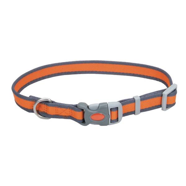 Adjustable Pet Pro Bright Orange with Gray Collar