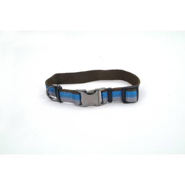 Adjustable Blue Lagoon Reflective Dog Collar