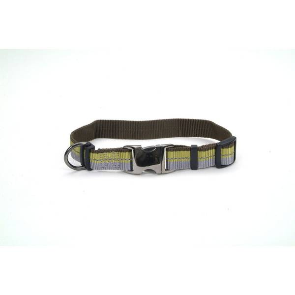 Olive Adjustable Outdoor Reflective Collar