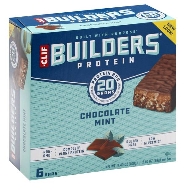 Builder's Chocolate Mint 20g Protein Bars - 6 Count