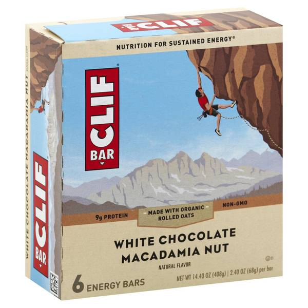 White Chocolate Macadamia Nut Energy Bars - 6 Count