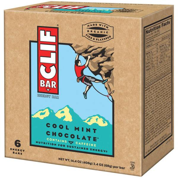 Cool Mint Chocolate Energy Bars - 6 Count