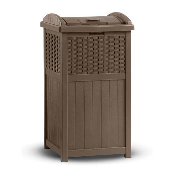 Resin Wicker Trash Can Holder