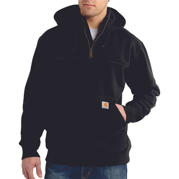 Men's Rain Defender Paxton Heavyweight Hooded 1/4 Zip Mock Sweatshirt