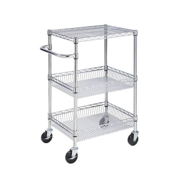 3 - Tier Chrome Heavy Duty Cart