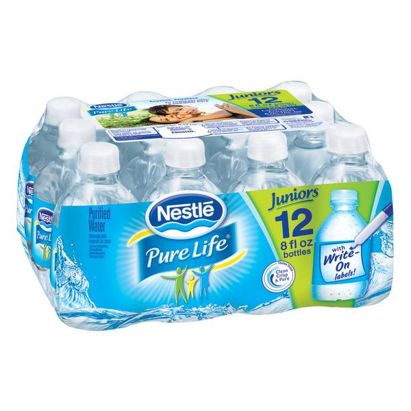 Pure Life 12 pack 8 oz Bottled Water