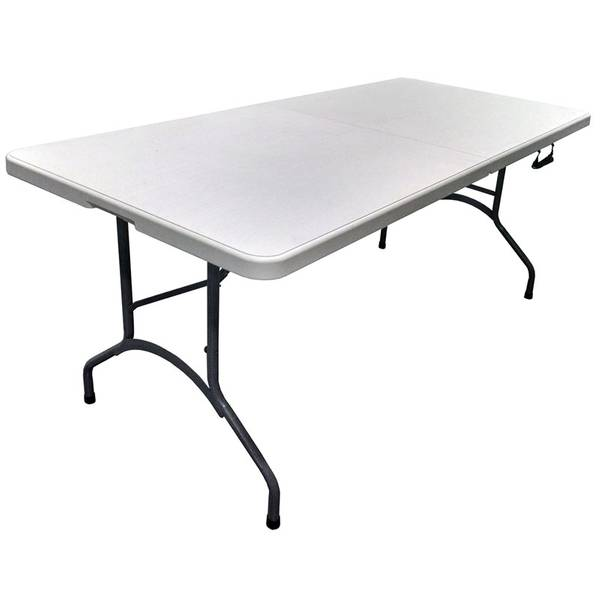 Fabulous Deluxe Utility Bi Folding Table Ncnpc Chair Design For Home Ncnpcorg