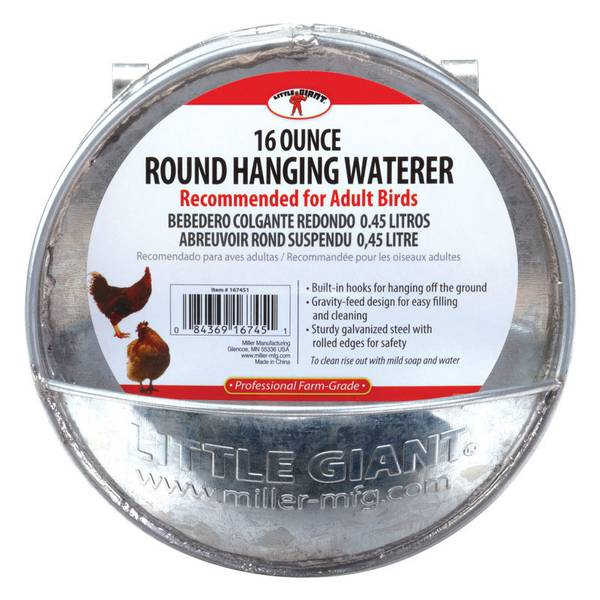 Galvanized Round Hanging Waterer