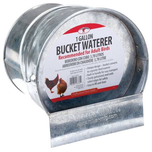 Galvanized Bucket Waterer