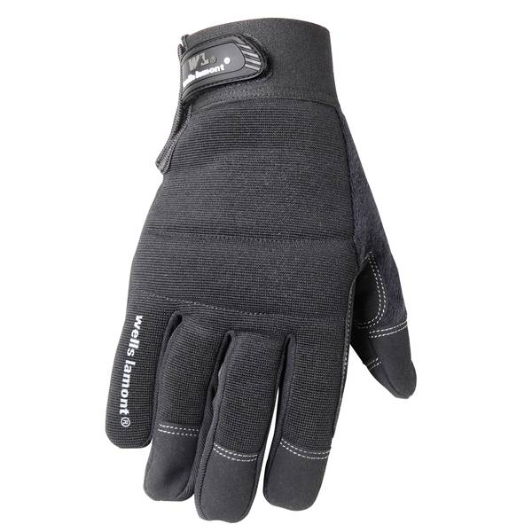 Men's Synthetic Leather Padded Palm Glove