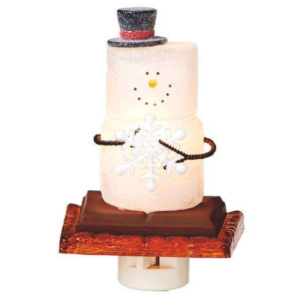 S'mores Snowman with Snowflake Night Light