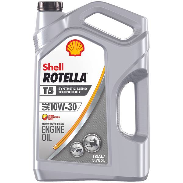 shell rotella t5 10w30 synthetic blend diesel engine oil