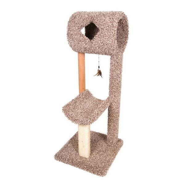 kitty cave and cradle cat scratching post