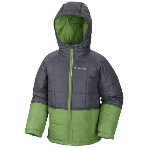 Boy's Graphite & Green Pine Pass Jacket