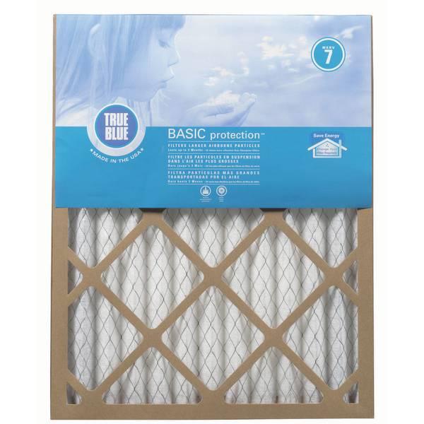 true blue merv 7 pleated media furnace filter