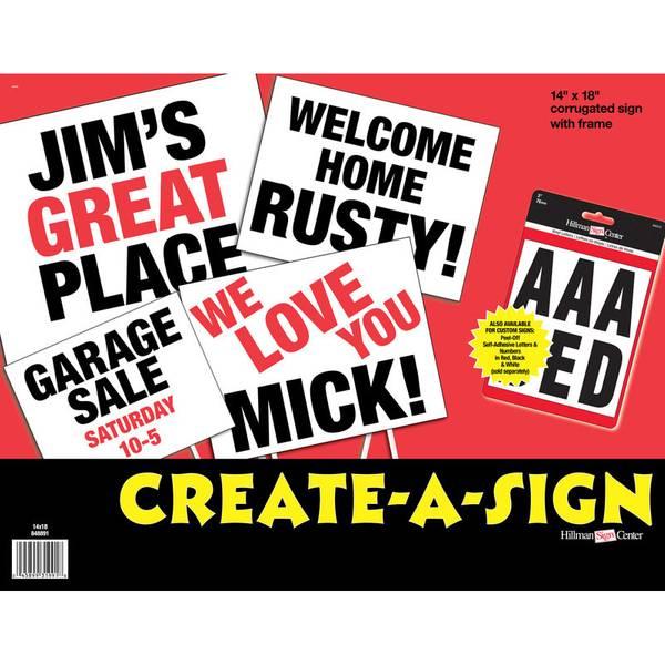 Corrugated Create - A - Sign