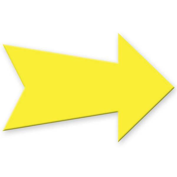 Yellow Blank Arrow Create - A - Sign