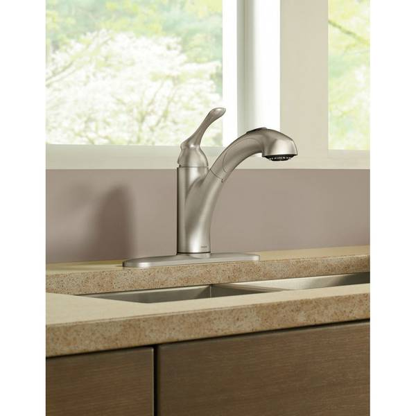 banbury single handle pullout kitchen faucet - Pull Out Kitchen Faucet