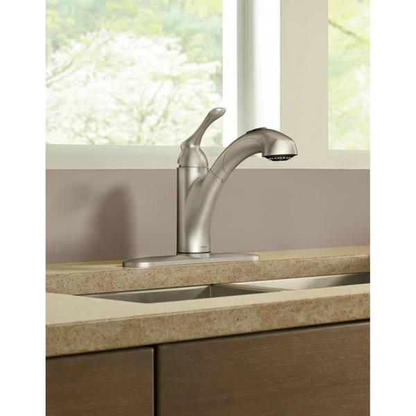 Moen Banbury Single Handle Pullout Kitchen Faucet 87017srs
