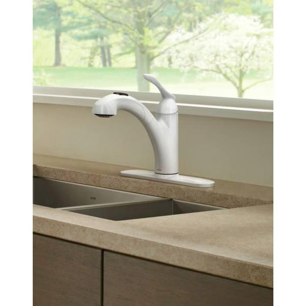 Moen Pull Out Kitchen Faucet moen banbury single handle pullout kitchen faucet
