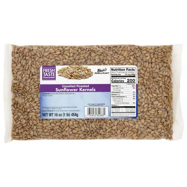 Unsalted Sunflower Kernels