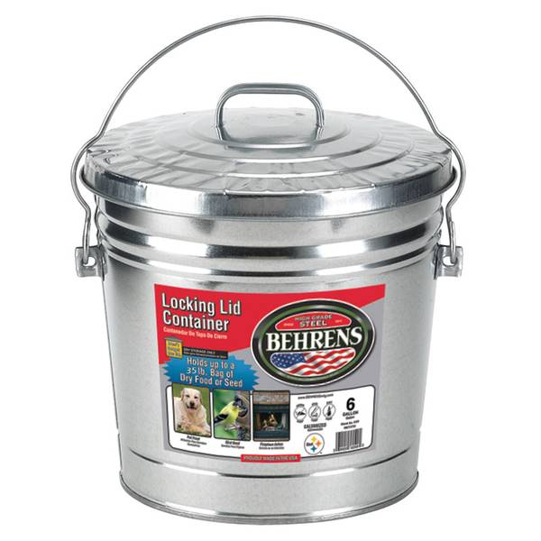 6 Gallon Locking Lid Bucket