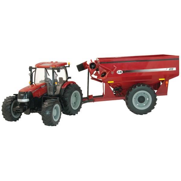 1:16 Big Farm Case IH Tractor & Grain Cart