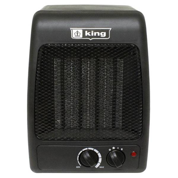 1500 Watt Compact Black Ceramic Heater