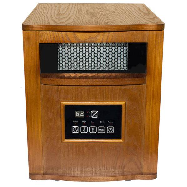 6 Tube Infrared Wood Cabinet Heater