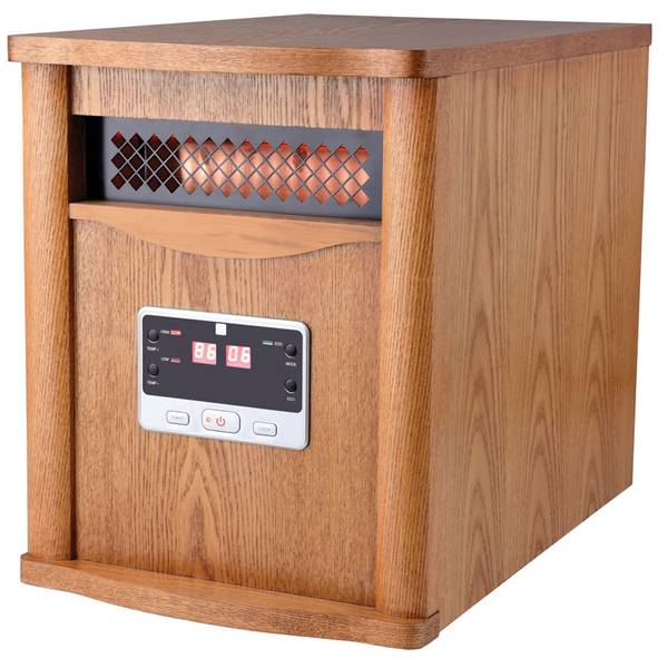 Infrared Deluxe Wood Cabinet Heater
