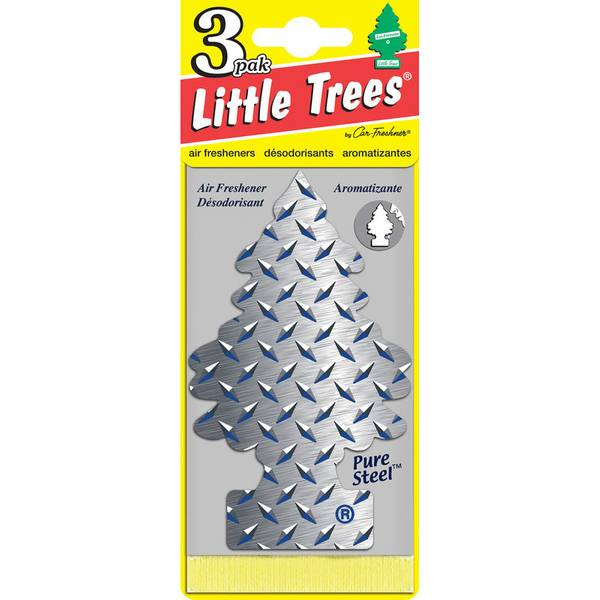 Pure Steel Little Trees Air Freshner 3 Pack