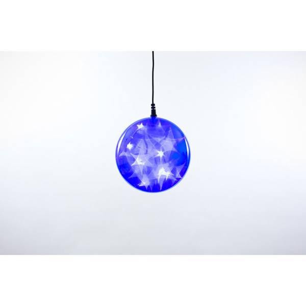"Blue Plug-In 4"" LED Starfire Sphere"