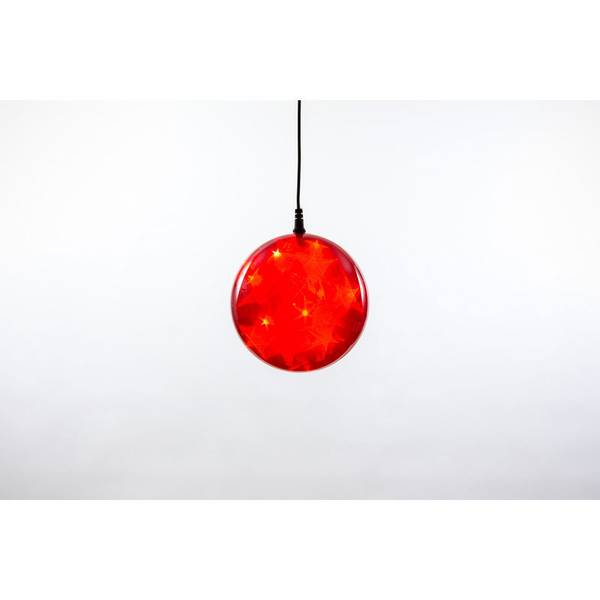 """Red Plug-In 4"""" LED Starfire Sphere"""