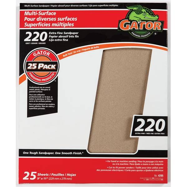 Gator 220 Grit Sandpaper Sheet