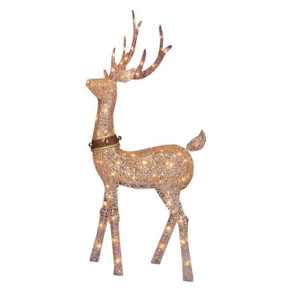 Glittering Champagne Standing Buck