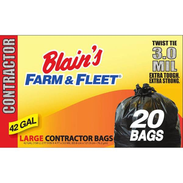 42 Gallon 3.0 mil Contractor Bag with Twist Ties