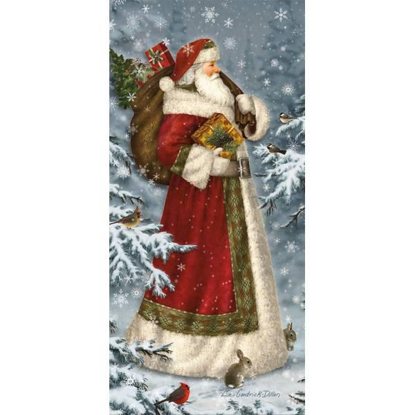 Snowy Woodland Santa Glitter Cards
